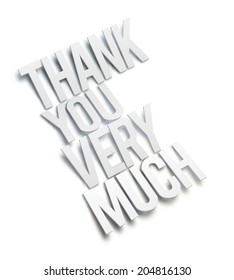 3D Thank You Very Much. Vector illustration.