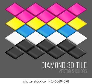3d tiles, vector, colorful dimonds