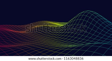 Contour Lines On A Topographic Map Connect.3 D Topographic Maps Contour Lines Abstract Stock Vector Royalty
