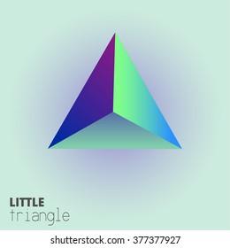 3d triangle design. vector illustration