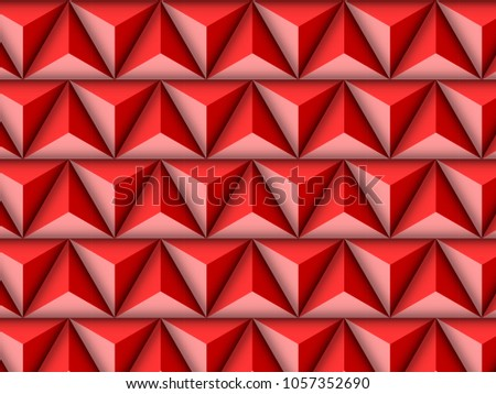 3 d triangle pattern seamless template stock vector royalty free