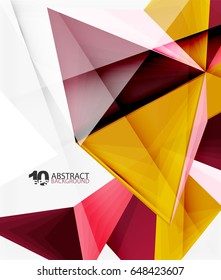 3d triangle polygonal abstract vector, creative modern abstract background for text, presentation wallpaper