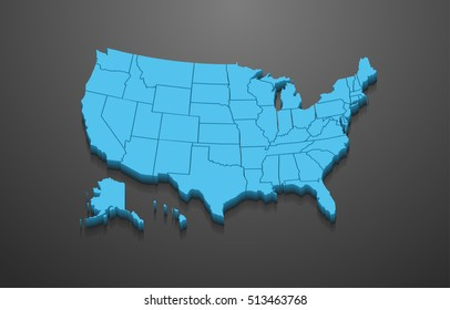 3D United States Map