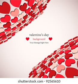 3d valentine's day background for your business. Vector illustration. best choice