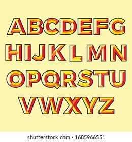 3d vector alphabet flat design