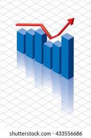 3D Vector Bar Chart