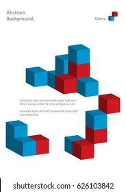 3D vector cubes background