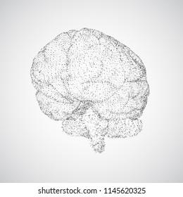 3 d vector cyber brain neural network stock vector royalty free