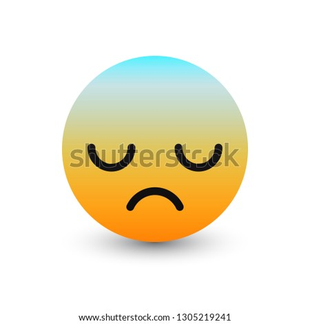 3 D Vector Extremely Upset Emoticon Icon Stock Vector Royalty Free