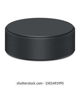 3d vector graphics. Hockey puck isolated on a white background.