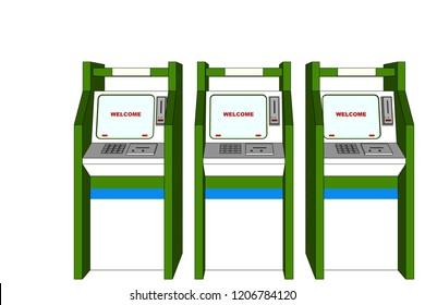 3D Vector Illustration, Atm Cabinet