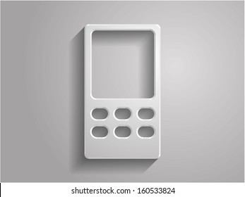 3d Vector illustration of cellphone icon