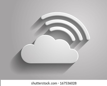 3d Vector illustration of cloud icon