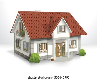 3d vector illustration of house