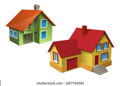3d vector illustration of house. Isometric concept.