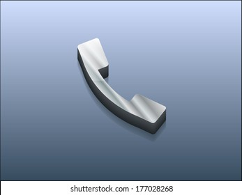 3d Vector illustration of a phone icon
