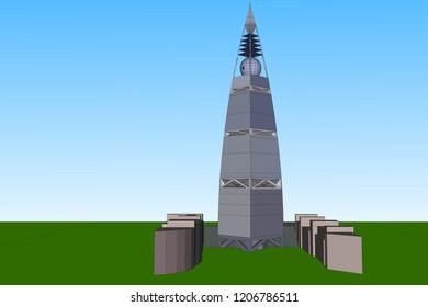 3D Vector Illustration, Traffic Building