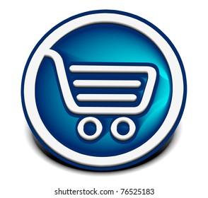 3d vector shopping web icons design element.