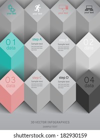 3d vector template for infographics / presentation / advertising / web site element