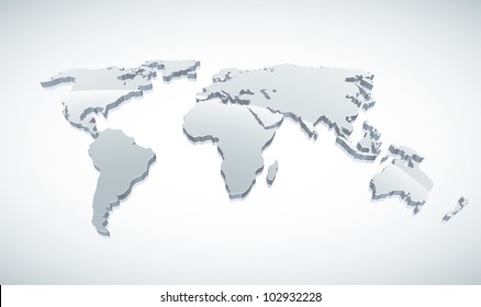 Blue World Map Images, Stock Photos & Vectors | Shutterstock