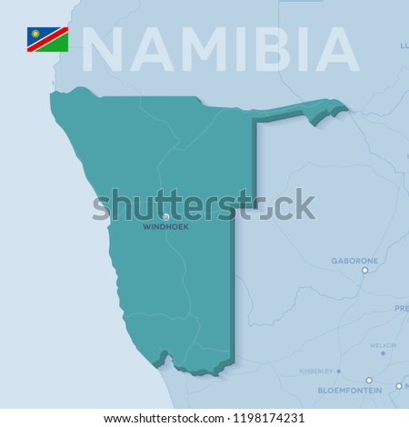 3d Map Of Africa Project.3 D Verctor Map Cities Roads Africa Stock Vector Royalty Free