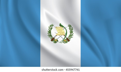 3D Waving Flag of Guatemala