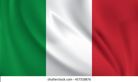3D Waving Flag of Italy