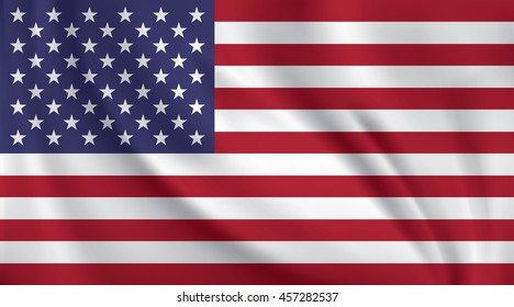 3D Waving Flag of United States America
