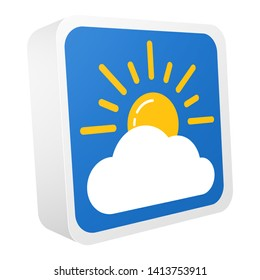3d weather forecast colorful icon. Symbol are isolated on white background. Vector illustration EPS10.