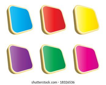 3d web buttons different colors