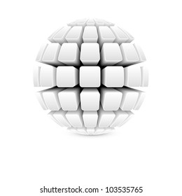 3d white ball vector