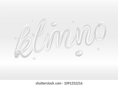 3d white letters isolated on background. Vector font.