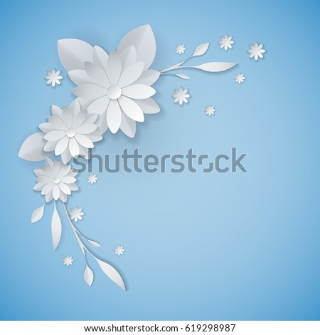 3 d white paper craft flowers background stock vector royalty free 3d white paper craft flowers background spring wedding decoration summer bridal bouquet greeting mightylinksfo
