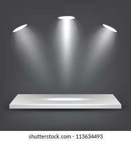3d White Shelf