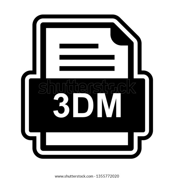 3dm File Document Icon Stock Vector (Royalty Free) 1355772020
