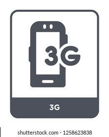 3g icon vector on white background, 3g trendy filled icons from Mobile app collection, 3g simple element illustration