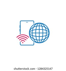 3G, internet, phone, globe, wi-fi icon. Element of mobile and smartphone icon for mobile concept and web apps. Detailed 3G, internet, phone, globe, wi-fi icon can be used for web