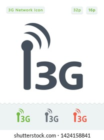 3G Network - Sticker Icons. A professional, pixel aligned icon.