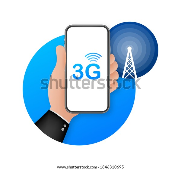 3G network wireless systems and internet. Communication network. Vector illustration.