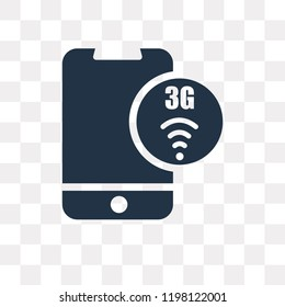 3g vector icon isolated on transparent background, 3g transparency concept can be used web and mobile