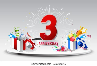 3rd anniversary images stock photos & vectors shutterstock