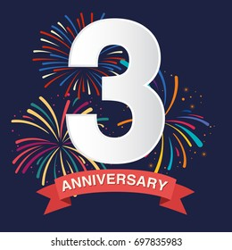 3rd Anniversary Poster Template Design