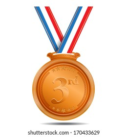 3rd Position Bronze Madel