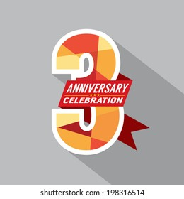 3rd Years Anniversary Celebration Design