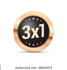 3x1 Badge