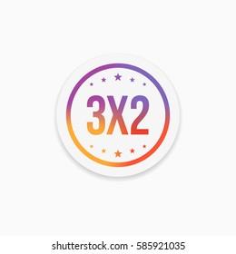 3x2 Label