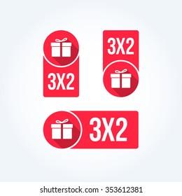 3x2 Labels