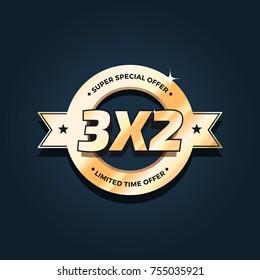 3x2 Offer Badge