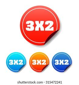 3x2 Round Stickers