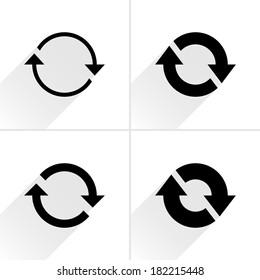 4 arrow icon. Set 02.